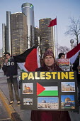 Detroit, Michigan USA Arab-Americans protest President Trumps recognizing Jerusalem as the capital of Israel - Jim West - 2010s,2017,activist,activists,America,american,americans,arab,Arab-American,arabs,BAME,BAMEs,Black,BME,bmes,CAMPAIGNING,CAMPAIGNS,capital,conflict,DEMONSTRATING,Demonstration,Detroit,diversity,Donald