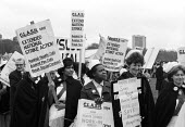 NHS nurses protest against public service cuts and restirctions on pay through the Labour Government Social Contract London 1977 - John Sturrock - 11-05-1977
