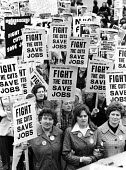 1977 Public sector workers join protest against public service cuts and pay restraint by the Labour Government Social Contract London - John Sturrock - 1970s,1977,activist,activists,against,anti,CAMPAIGNING,CAMPAIGNS,cuts,DEMONSTRATING,Demonstration,female,Government,London,member,member members,members,NUPE,people,person,persons,placard,placards,Pro