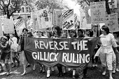 Protest against The Gillick Ruling 1985, a legal campaign by Victoria Gillick to stop GPs giving contraceptive advice and treatment to under 16 year olds without prior parental consent - Stefano Cagnoni - 1980s,1985,Acquired immune,activist,activists,against,AIDS,BAME,BAMEs,banner,banners,Black,Black and White,BME,bmes,CAMPAIGN,campaigner,campaigners,CAMPAIGNING,CAMPAIGNS,cities,City,contraception,cont