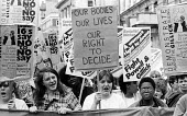 Protest against The Gillick Ruling 1985, a legal campaign by Victoria Gillick to stop GPs giving contraceptive advice and treatment to under 16 year olds without prior parental consent - Stefano Cagnoni - 1980s,1985,Acquired immune,activist,activists,against,AIDS,BAME,BAMEs,Black,Black and White,BME,bmes,CAMPAIGN,campaigner,campaigners,CAMPAIGNING,CAMPAIGNS,cities,City,contraception,contraceptive,contr