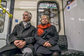 Passengers on a Berlin underground train or U-Bahn, Germany - David Bacon - 2010s,2017,adult,adults,Berlin,bored,boredom,boring,carriage,carriages,cities,city,COMMUTE,commuter,commuters,commuting,disinterested,EBF,Economic,Economy,FEMALE,from work,German,germans,Germany,journ