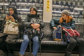 Passengers on a Berlin underground train or U-Bahn, Germany - David Bacon - 01-12-2017