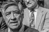 San Francisco California USA Cesar Chavez UFW on a picket line during a strike at CBS - David Bacon - 24-09-1991