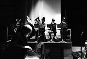 Hans Werner Henze conducting The Tedious Path To The House of Natasha Ungeheuer, Olympic Theatre Rome 1971. Premiere of Hans Werner Henze political manifesto music with German text by Gustav Salvatore - Arno Hammacher - 1970s,1971,ACE,Arts,avant garde,cities,City,classical,conducting,conductor,conductors,Culture,ensemble,experimental,expressionism,Henze,House,houses,manifesto,melody,modern,music,musical,musical instr