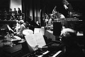 Giuseppe Agostini on keyboards The Tedious Path To The House of Natasha Ungeheuer, Olympic Theatre Rome 1971. Premiere of Hans Werner Henze political manifesto music with German text by Gustav Salvato... - Arno Hammacher - 17-05-1971