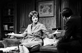 Mary Mary by Jean Kerr, Queens Theatre London 1963 starring Maggie Smith - Alex Low - 1960s,1963,ACE,acting,actor,actors,actress,actresses,Arts,Culture,drama,DRAMATIC,entertainment,FEMALE,London,Maggie Smith,male,man,Mary,men,people,person,persons,play,playing,plays,stage,theatre,THEAT