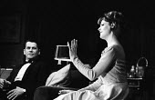 Mary Mary written by Jean Kerr, Queens Theatre London 1963 starring Maggie Smith and Ron Randall - Alex Low - 1960s,1963,ACE,acting,actor,actors,actress,actresses,Arts,Culture,drama,DRAMATIC,entertainment,FEMALE,London,Maggie Smith,male,man,Mary,men,people,person,persons,play,playing,plays,Ron Randall,stage,t