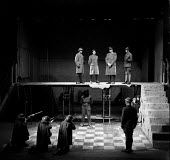 1957 Joan Littlewood Theatre Workshop production of Macbeth, Theatre Royal Stratford East London - Alan Vines - 1950s,1957,ACE,acting,actor,actors,Arts,Culture,drama,DRAMATIC,Dudley Foster,entertainment,Glynn Edwards,Joan Littlewood,London,Macbeth,maker,makers,making,male,man,men,people,person,persons,play,play