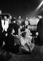 RADA students with theatre Director John Fernald Principal of RADA London 1958 - Alan Vines - 24-11-1958