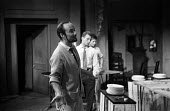Director John Dexter rehearsal of The Kitchen by Arnold Wesker, The Theatre Upstairs at the Royal Court London 1959 - Alan Vines - 1950s,1959,ACE,acting,actor,actors,adult,adults,Arts,author,authors,Court,Culture,Dexter,directing,director,directors,drama,DRAMATIC,entertainment,John Dexter,Kitchen,KITCHENS,London,male,man,MATURE,m