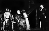 RSC 1959 KIng Lear by William Shakespeare directed by Glen Byam Shaw and with Charles Laughton in the lead role. (L to R) actors Ian Holm, Charles Laughton, Angela Baddeley and Paul Hardwick - Alan Vines - 1950s,1959,ACE,acting,actor,actors,Angela Baddeley,Arts,BAME,BAMEs,Black,BME,bmes,Charles Laughton,Classic,Culture,diversity,drama,DRAMATIC,ethnic,ethnicity,FEMALE,GB Shaw,Ian Holm,King Lear,male,man,