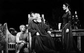 RSC 1959 KIng Lear by William Shakespeare directed by Glen Byam Shaw. (L to R) Ian Holm crouching Charles Laughton and Angela Baddeley - Alan Vines - 1950s,1959,ACE,acting,actor,actors,Angela Baddeley,Arts,Charles Laughton,Classic,Culture,drama,DRAMATIC,GB Shaw,Ian Holm,King Lear,male,man,men,people,person,persons,play,PLAYING,plays,Royal Shakespea