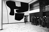 Victor Pasmore murals Council Rates Hall, Newcastle Civic Centre 1965 - Malcolm Aird - 1960s,1965,abstract,ACE,architecture,art,arts,building,buildings,cities,City,civic centre,council,Council Services,Council Services,council tenants,culture,design,housing,light,local authority,local c