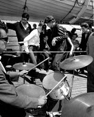 Pop group playing as young people dance, Cross Channel Ferry Summer 1962 - Romano Cagnoni - 11-06-1962