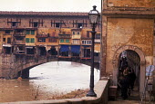 Florence Floods, Italy, 1966. Ponte Vecchio bridge over the Ano. The floods in Florence in early November were the worst in over five hundred years and resulted in the loss of over 100 Florentine live... - Romano Cagnoni - 11-11-1966