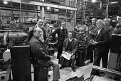 Occupation of AEC Southall factory 1974, makers of London buses. Workers demanding a wage rise and against closure - NLA - 08-10-1974