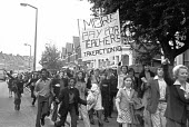 Pupils strike in support of teachers pay claim, Sladebrook School, London 1974 - NLA - 1970s,1974,activist,activists,adolescence,adolescent,adolescents,BAME,BAMEs,Black,Black and White,BME,bmes,boy,boys,CAMPAIGNING,CAMPAIGNS,child,CHILDHOOD,children,claim,DEMONSTRATING,Demonstration,dis