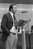Robert Bolt, playwright and writer speaking ACTT union conference 1975 - NLA - 1970s,1975,ACTT,conference,conferences,male,man,member,member members,members,men,people,person,persons,Robert Bolt,SPEAKER,SPEAKERS,speaking,SPEECH,Trade Union,Trade Union,Trade Unions,Trades Union,T