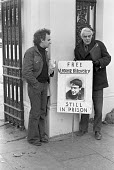Actor David Markham (R) protest at Soviet Embassy, London 1974 against the holding of dissident Vladimir Bukovsky in psychiatric institutions and prison camps in the Soviet Union. A writer, neurophysi... - NLA - 30-12-1974
