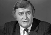 Ted Knight leader of Lambeth council London 1980 against rate capping - NLA - 1980,1980s,against,campaign,campaigning,CAMPAIGNS,council,COUNCILER,COUNCILERS,councillor,councillors,councilor,councilors,democracy,Labour Party,Lambeth,leader,local,Local Authority,London,male,man,m