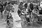 London 1984 Brixton, Lambeth, Protest against government cuts in services and rate capping - NLA - 29-03-1984