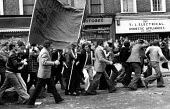 Battle of Lewisham 1977 National Front march under a hail of stones and bottles from counter protest - David Mansell - 13-08-1977