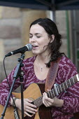Anya Sweeney singing, Queen Elizabeth II 90th birthday celebration weekend, street party Alcester Warwickshire - John Harris - 12-06-2016