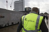 Carillion liquidation has put thousands of jobs at risk. Work has stopped on the 700 million Paradise redevelopment in Birmingham city centre - John Harris - 2010s,2018,administration,bankrupt,bankruptcy,Birmingham,building site,Carillion,cities,City,City centre,Construction Industry,developer,developers,EBF,Economic,Economy,employee,employees,Employment,h