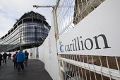 Carillion liquidation has put thousands of jobs at risk. Work has stopped on the 700 million Paradise redevelopment in Birmingham city centre - John Harris - 2010s,2018,administration,bankrupt,bankruptcy,Birmingham,Brownfield Site,building site,Carillion,cities,City,City centre,close,closed,closing,closure,closures,communicating,communication,Construction