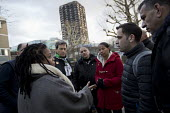 Palestinian firefighters visiting Grenfell meeting Judy from Justice for Grenfell in a solidarity. The firefighters have been training in Scotland with the support of the FBU and Scottish Government.... - Jess Hurd - 19-01-2018