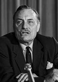 Enoch Powell MP, Committee for Safeguards on the Common Market Campaign press conference 1976 - Martin Mayer - 03-06-1976