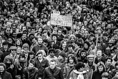 London 1984 GCHQ and other union members at a rally, Day of Action in support of union rights at GCHQ - NLA - 28-02-1984