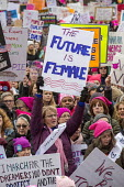 Lansing, Michigan USA Womens march protest against sexual harassment, violence against women and the presidency of Donald Trump - Jim West - 21-01-2018