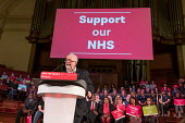 Jeremy Corbyn speaking Labour Care for the NHS rally, Central Hall Westminster, London - Philip Wolmuth - 2010s,2018,campaign,campaigning,CAMPAIGNS,health,HEALTH SERVICES,healthcare,Jeremy Corbyn,Labour Party,London,male,man,men,MP,MPs,National Health Service,NHS,people,person,persons,POL,political,politi