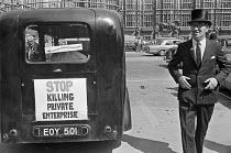 Free Enterprise Group lobby Parliament, London 1975 Stop Killing Private Enterprise - NLA - 25-06-1975