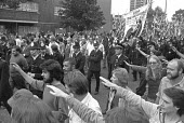 National Front march with a counter demonstration alongside, London 1975 John Tyndall (C) - NLA - 06-09-1975