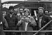 Ford workers occupy Dagenham factory in a pay dispute, Essex 1975 - Martin Mayer - 1970s,1975,AUEW,auto,automotive,Automotive Industry,BAME,BAMEs,BEMM,BEMMS,black,Black and White,black workers,BME,bmes,capitalism,capitalist,Car Industry,car worker,car workers,carindustry,Dagenham,di