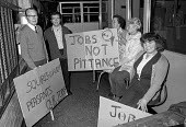Workers occupy Plessey factory, Swindon 1974 in a pay dispute - Martin Mayer - 11-12-1974