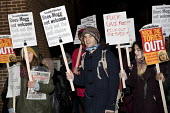 Protest against In Conversation with Jacob Rees-Mogg MP, Mile End Institute, Queen Mary and Westfield University, London. Kick out the anti-choice homophobes - Jess Hurd - 01-02-2018