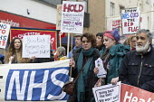 NHS in Crisis - Fix it Now protest, Gloucester - John Harris - 2010s,2018,activist,activists,Austerity Cuts,CAMPAIGNING,CAMPAIGNS,Crisis,DEMONSTRATING,Demonstration,FEMALE,HEALTH SERVICES,healthcare,National Health Service,NHS,people,person,persons,Protest,PROTES