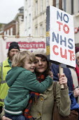 NHS in Crisis - Fix it Now protest, Gloucester - John Harris - 2010s,2018,activist,activists,adult,adults,Austerity Cuts,boy,boys,CAMPAIGNING,CAMPAIGNS,child,CHILDHOOD,children,Crisis,DEMONSTRATING,Demonstration,FEMALE,HEALTH SERVICES,healthcare,juvenile,juvenile
