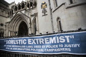 Spycops Pitchford Inquiry, Royal Courts of Justice, London - Jess Hurd - 2010s,2018,activist,activists,adult,adults,banner,banners,campaign,campaigning,CAMPAIGNS,civil rights,Counter Terrorism,court,court case,courts,covert,DEMONSTRATING,Demonstration,Domestic Extremist,Do