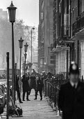 Balcombe Street siege of four IRA men London 1975 Armed police sorround the house where 4 IRA men were holed up after an attack on a restaurant - Martin Mayer - 1970s,1975,adult,adults,armed,arms,attack,attacking,Balcombe Street,catering,CLJ,firearm,firearms,force,gun,guns,handgun,handguns,house,houses,IRA,London,Metropolitan Police Service,Northern Ireland,O