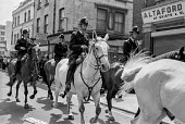 Mounted police, Anti Nazi League protest against the National Front, Brick Lane, East London 1978 - NLA - 18-06-1978