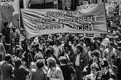 Bengali Youth Movement, Anti Nazi League protest against the National Front, Brick Lane, East London 1978 - NLA - 1970s,1978,activist,activists,against,ANL,Anti Fascist,Anti Nazi League,Anti Racism,anti racist,BAME,BAMEs,Bengali Youth Movement,Black,Black and White,BME,bmes,Brick Lane,CAMPAIGNING,CAMPAIGNS,DEMONS