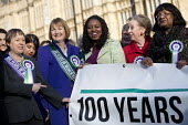 Labour launches campaign to celebrate 100 years of womens suffrage with female members of the Shadow Cabinet and Labour politicians, Houses of Parliament, Westminster, London. - Jess Hurd - 100 years,2010s,2018,activist,activists,BAME,BAMEs,banner,banners,Black,Black and White,BME,bmes,campaign,campaigning,CAMPAIGNS,CELEBRATE,celebrating,celebration,celebrations,COMMEMORATE,Commemorate T