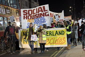 Social Housing Not Social Cleansing, stop HDV march to Haringey Civic Centre, London - Jess Hurd - 2010s,2018,activist,activists,against,Anti privatisation,Anti privatisation,anti privatization,Austerity Cuts,banner,banners,Broadwater Farm,CAMPAIGNING,CAMPAIGNS,communities,community,Council Housing