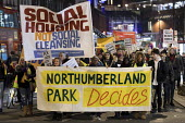 Social Housing Not Social Cleansing, stop HDV march to Haringey Civic Centre, London - Jess Hurd - 07-02-2018