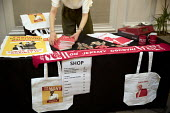 Labour merchandise, New Economics, Alternative Models of Ownership Labour Party conference, London - Jess Hurd - 2010s,2018,activist,activists,Alternative Models of Ownership,branding,campaigner,campaigners,conference,conferences,FEMALE,Labour merchandise,Labour Party,London,manifesto,member,members,merchandise,